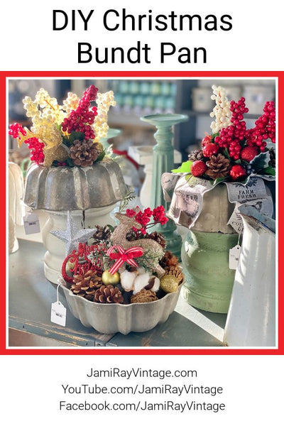 Thrifted Dollar Store Christmas Decor | Bundt Pan Centerpiece