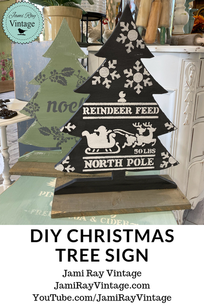 Christmas Tree Holiday Sign | JRV Stencils