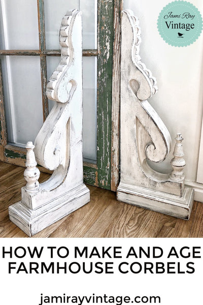 How To Make And Age Farmhouse Corbels | YouTube Video