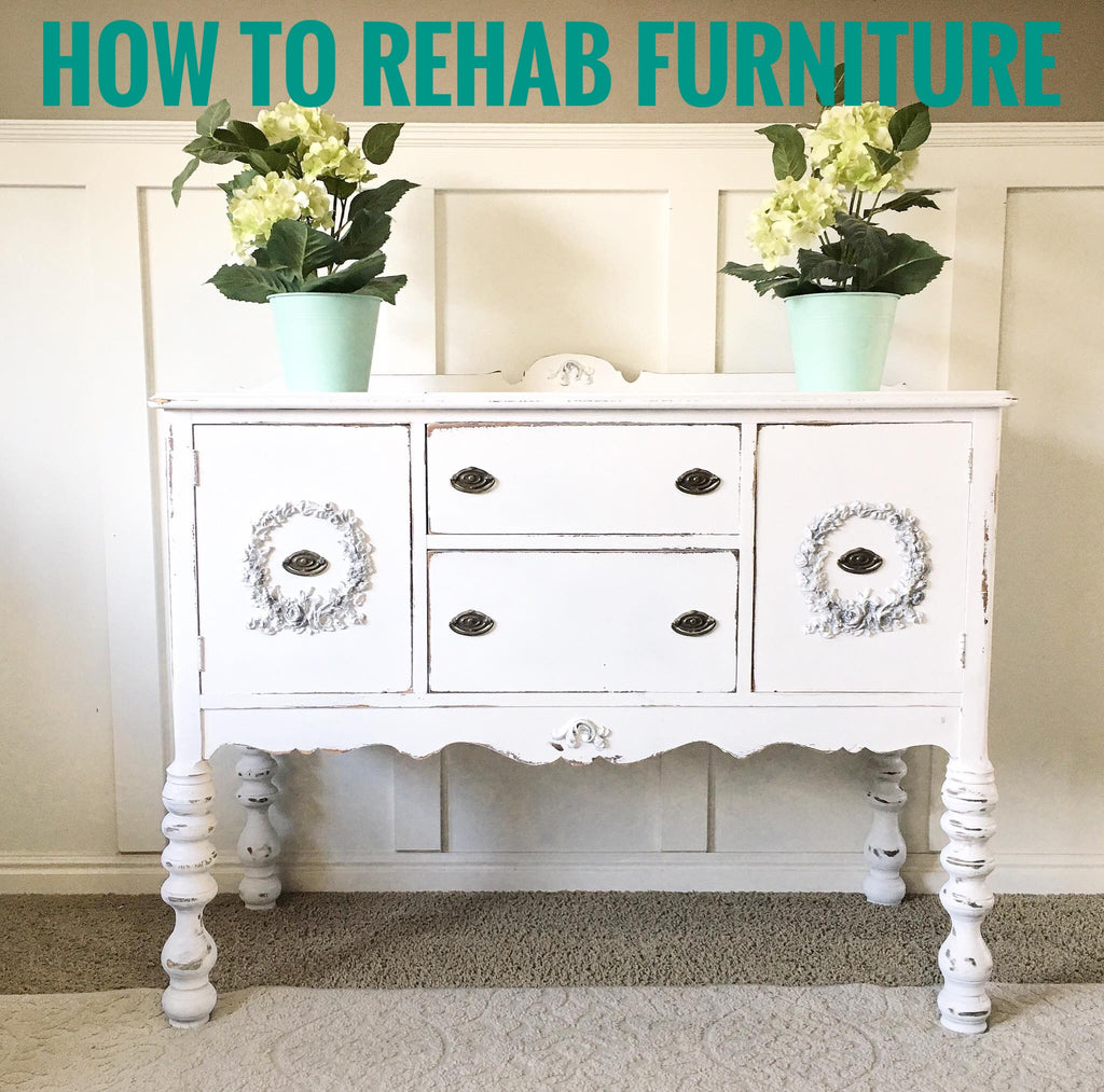 How to Rehab Furniture | Furniture Appliqués | Farmhouse Buffet