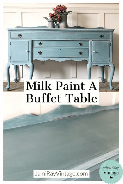 How To Milk Paint A Buffet Table | YouTube Video