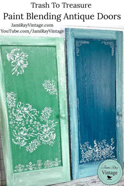 Trash To Treasure Paint Blending Antique Doors