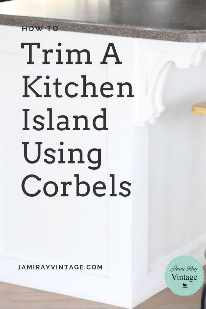 How To Trim A Kitchen Island Using Corbels | YouTube Video