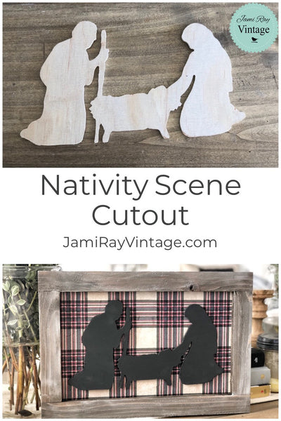Nativity Wood Cutout