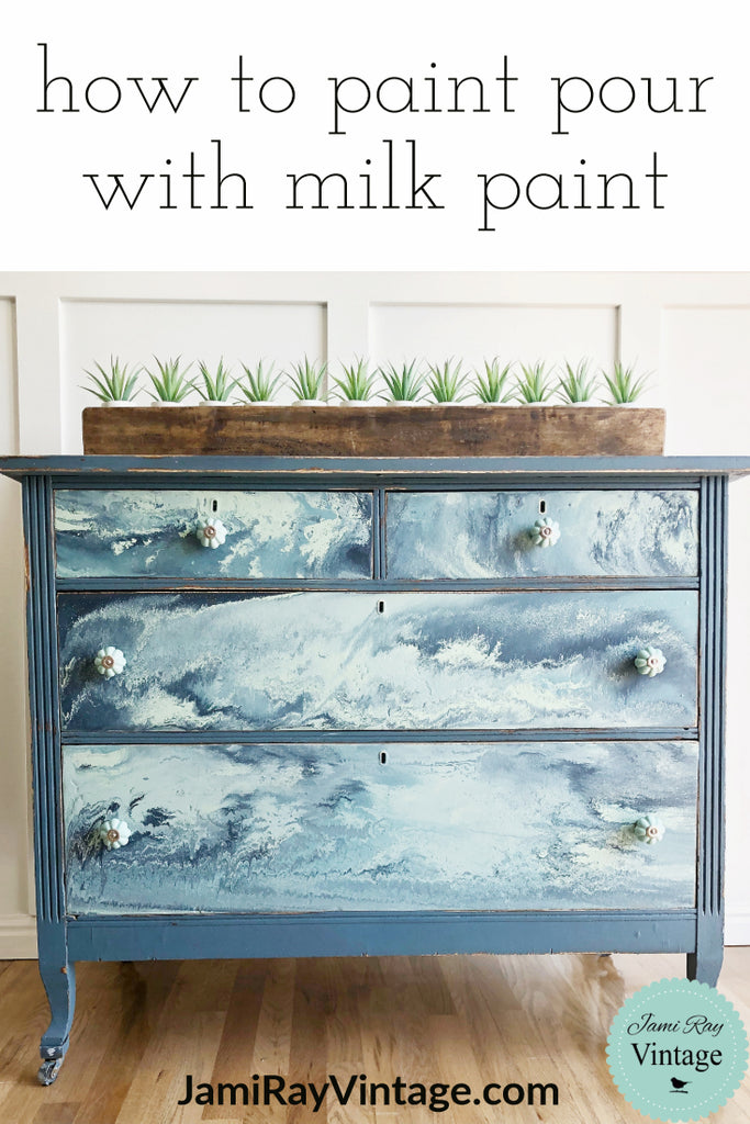 How To Paint Pour With Milk Paint | YouTube Video
