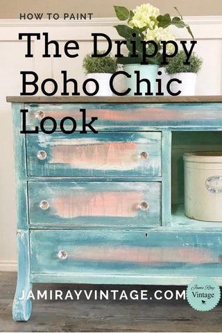 Etonnant By Using Clay Based Paint And A Squirt Bottle, Jami Ray Can Transform Any  Plain, Old Dresser Into A Chic Piece Of Furniture With A Drippy Boho Chic  Look.