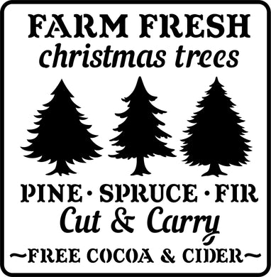 Farm Fresh Christmas Trees | JRV Stencils