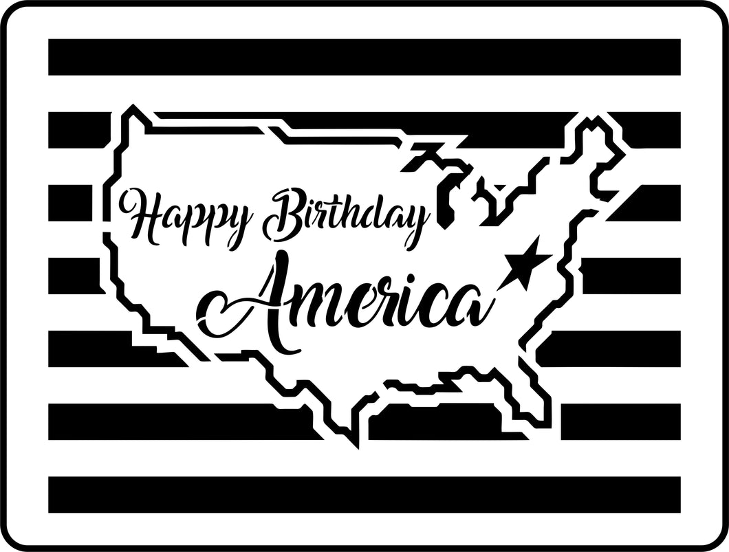 Happy Birthday America | JRV Stencils