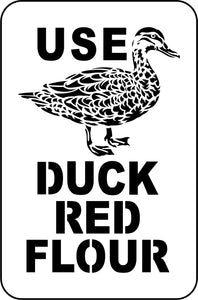 Duck Red Flour | JRV Stencils