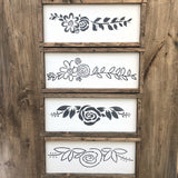 Long Flower Set | JRV Stencils