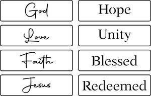 Religious Words Pack | JRV Stencils