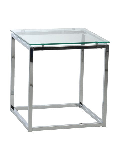 Gardner End Table GLASS TOP/CHROME
