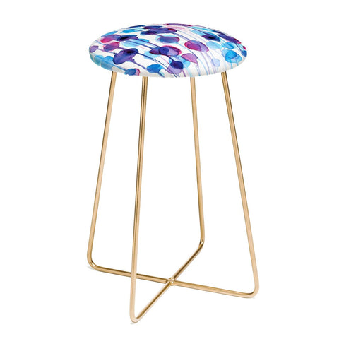 ABSTRACT WATERCOLOR Counter Stool by CMYKaren