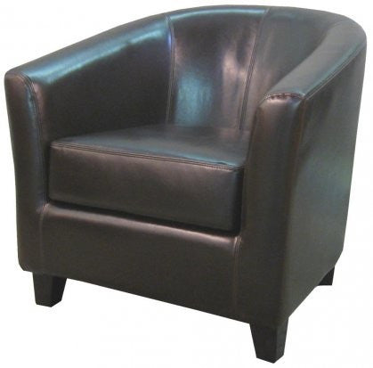 Robertson Bonded Leather Chair CHOCOLATE