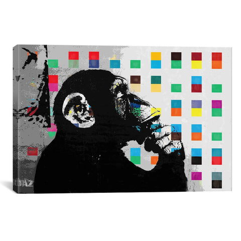 Banksy THE THINKER MONKEY DOTS UP CLOSE - Apt2B - 1