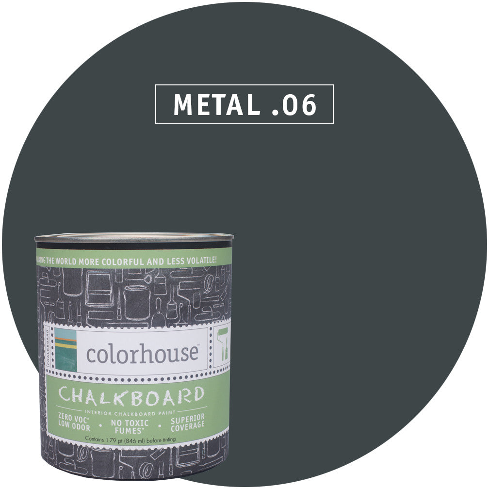 Chalkboard Paint by Colorhouse METAL .06