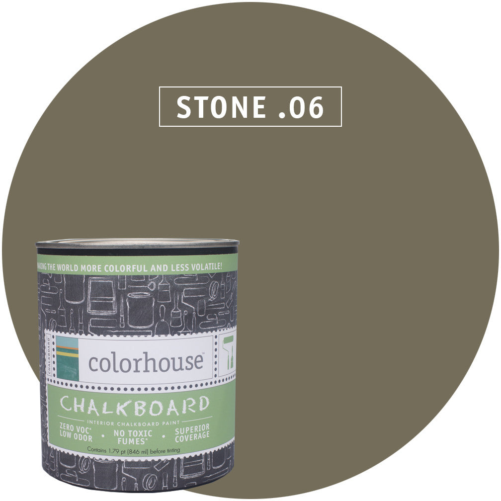 Chalkboard Paint by Colorhouse STONE .06