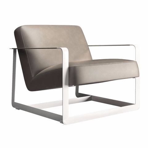 ace leather accent chair castle grey