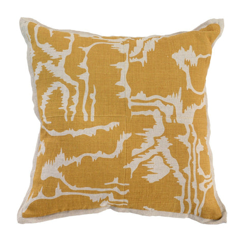 Adna Toss Pillow OCHRE
