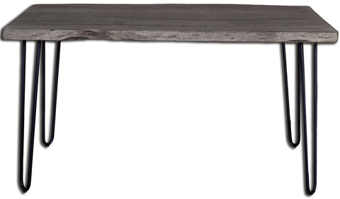 Angeles Crest Live Edge Dining Table GREY