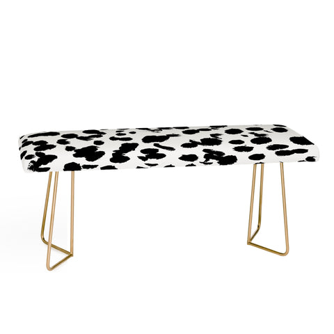 ANIMAL SPOT BLACK AND WHITE Bench by Amy Sia
