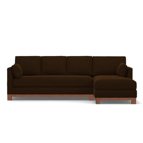 Avalon 2pc Sectional Sofa RAF in ESPRESSO - CLEARANCE