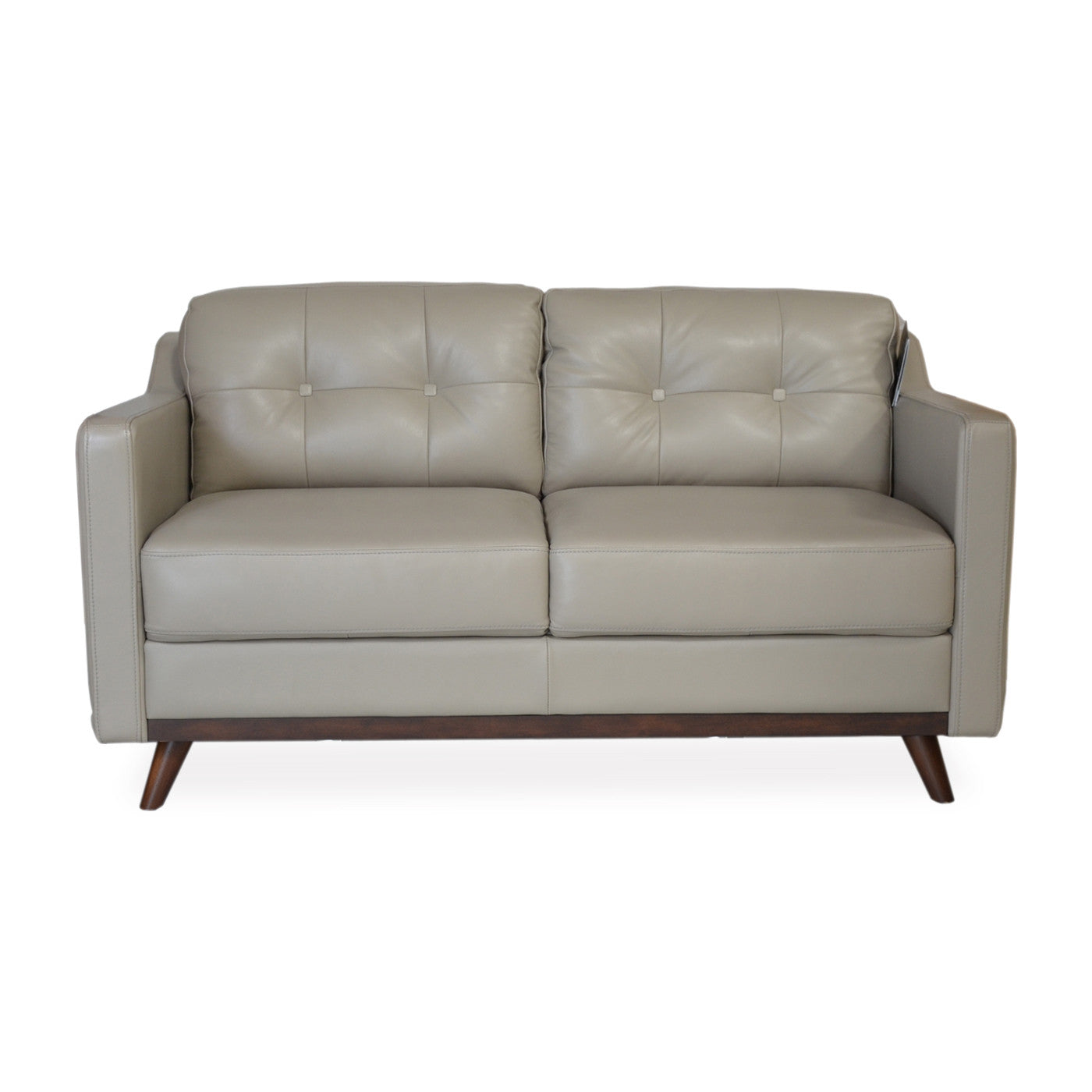 Baker apartment size leather sofa grey apt2b for Apartment size sofa dimensions