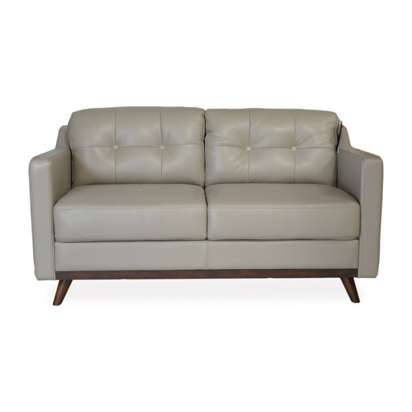 baker apartment size leather sofa grey apt2b