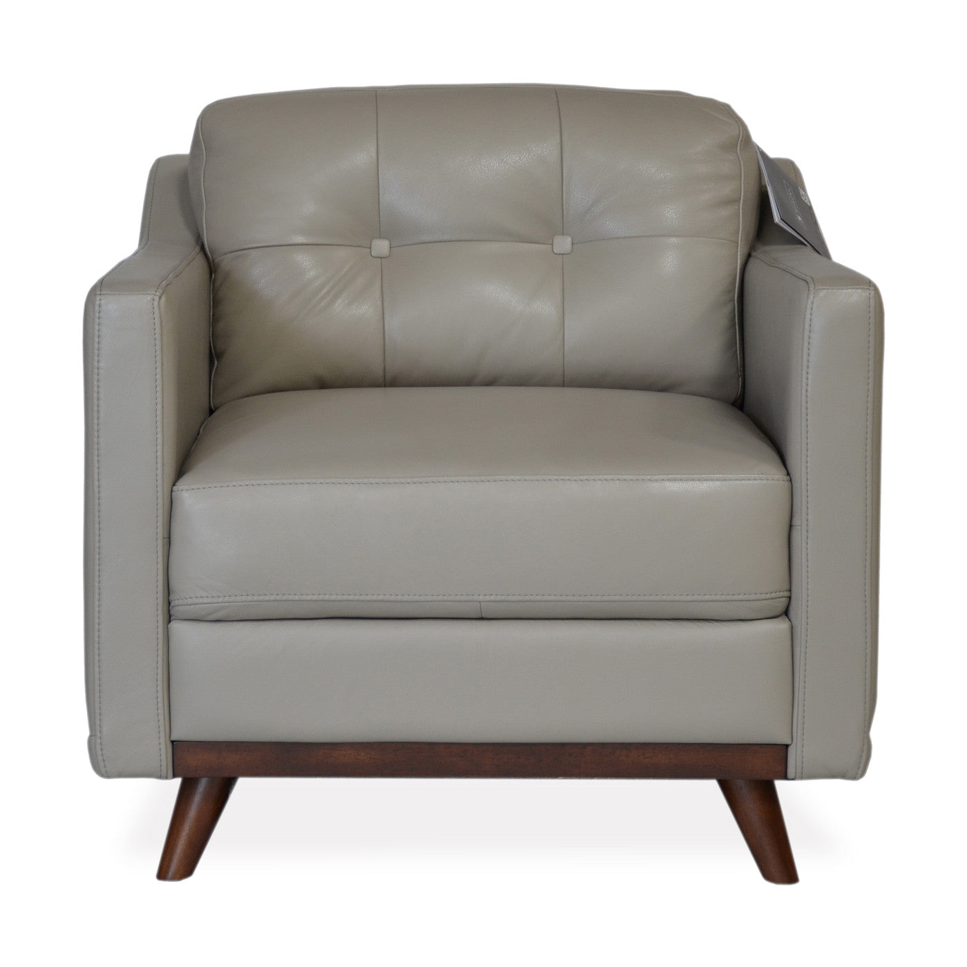 Baker Leather Chair GREY