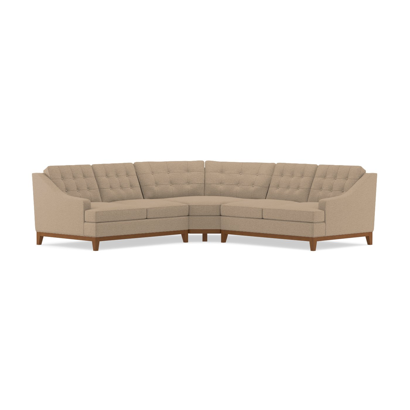 Bannister 3pc Sectional Sofa Choice of Fabrics Apt2B