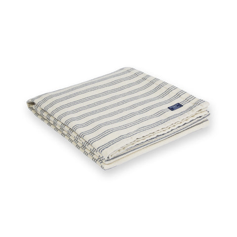 Beacon Stripe Cotton Throw by Faribault NAVY