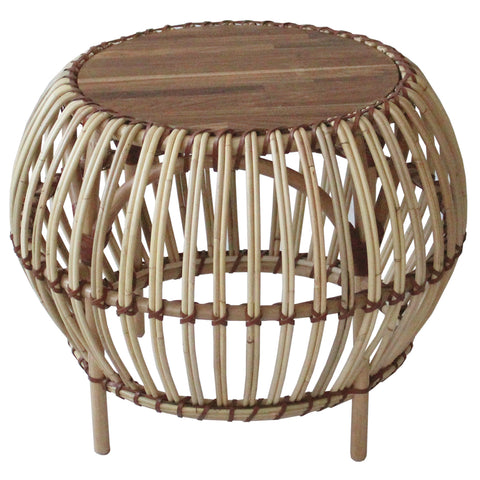 Boca Rattan Side Table NATURAL
