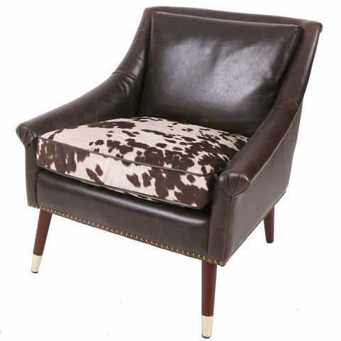 Crawford Accent Chair COW PRINT