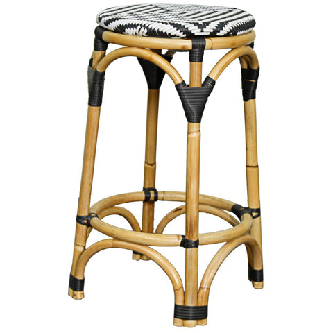Calypso Bar Stool BLACK/WHITE - Apt2B