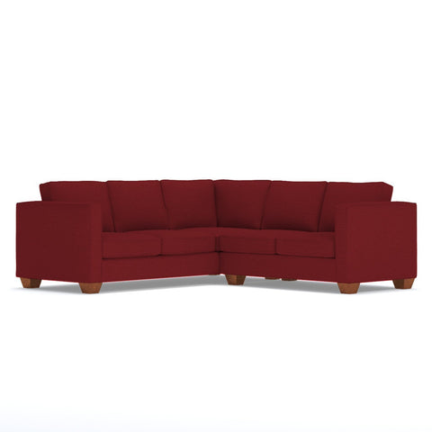 Catalina 2pc L-Sectional Sofa in BERRY - CLEARANCE