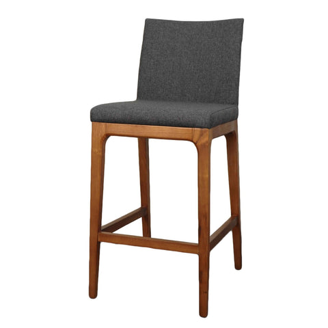 Charles Counter Stool Set of 2 CHARCOAL