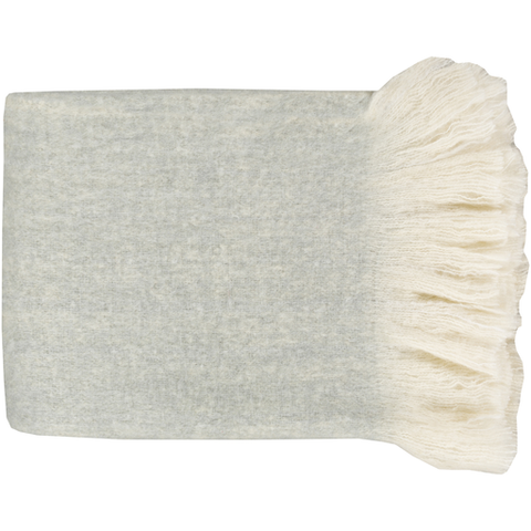 Cirrus Woven Throw LIGHT GREY