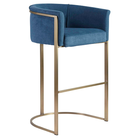 Clarissa Bar Stool EGYPTIAN BLUE