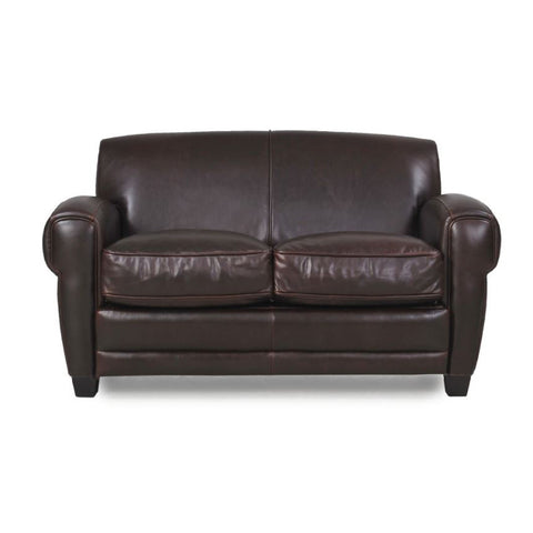 Cleon Leather Apartment Size Sofa BROWN - Apt2B - 1