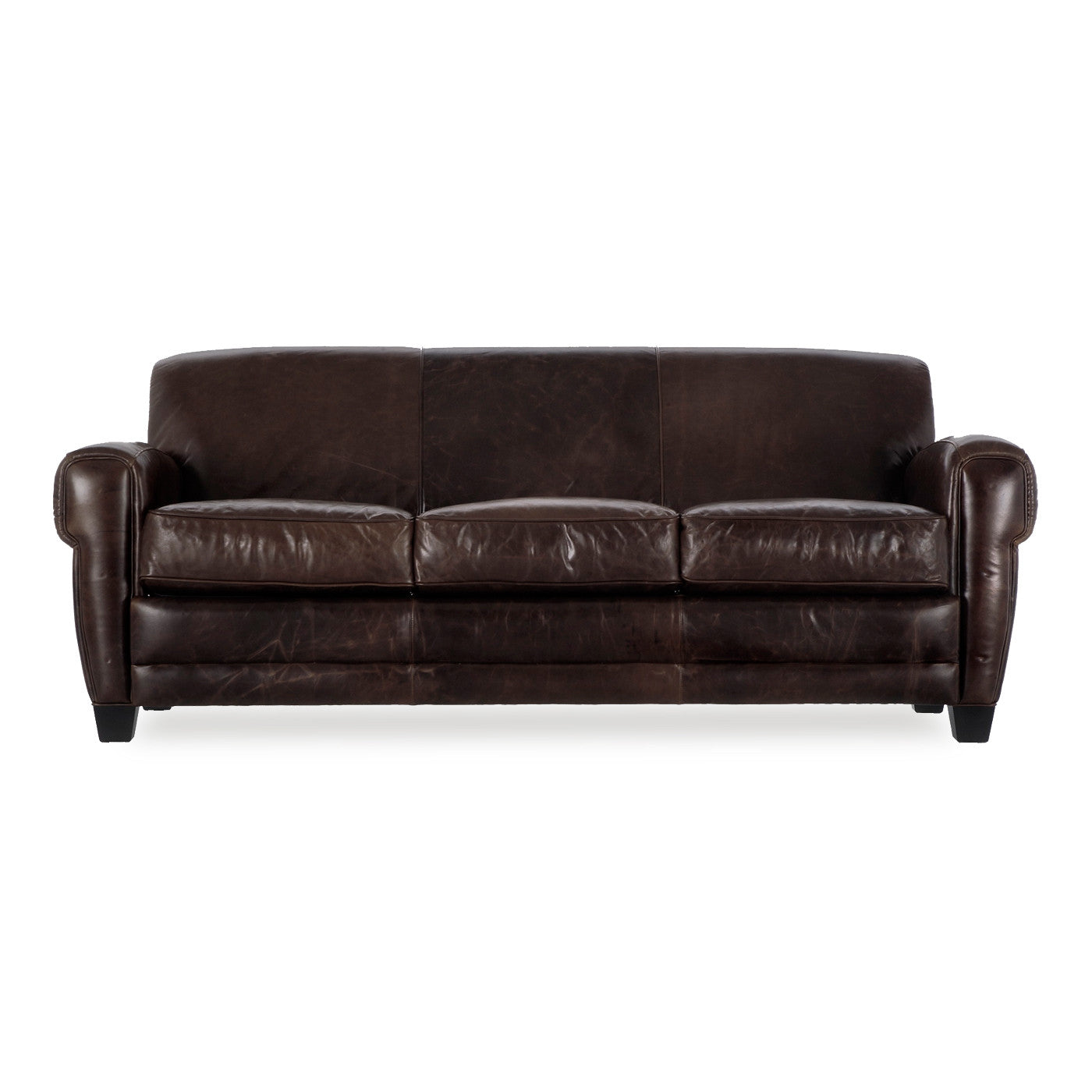 Cleon Leather Sofa BROWN