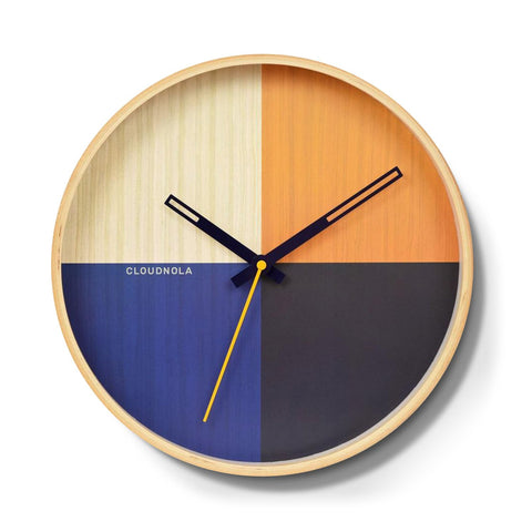 Flor Wall Clock by Cloudnola BLUE