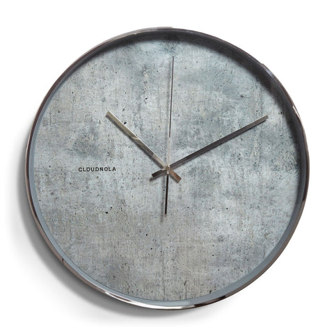 Structure Wall Clock by Cloudnola CEMENT