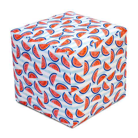 Summer Camp Cube Ottoman WATERMELON