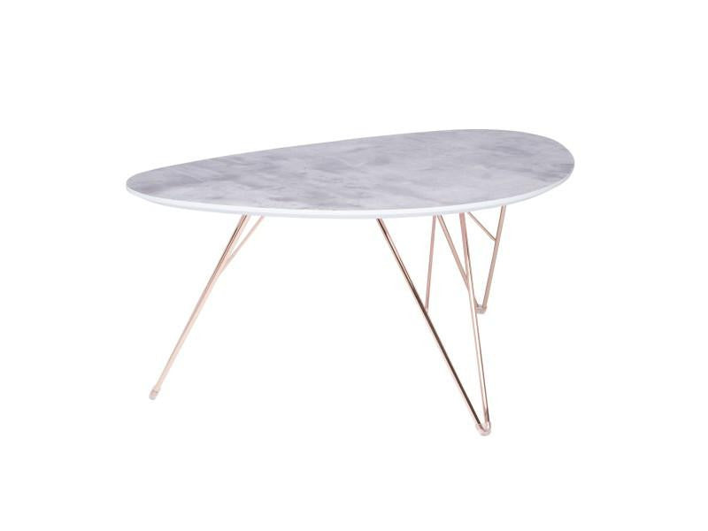 "Edgecliffe Coffee Table 24"" Marble/gold"