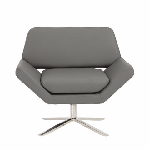 Ellis Lounge Chair GREY/STAINLESS STEEL - Apt2B - 1