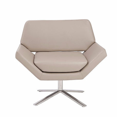 Ellis Lounge Chair TAUPE/STAINLESS STEEL - Apt2B - 1
