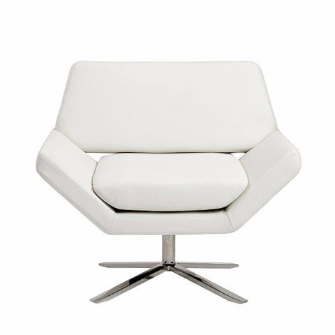 Ellis Lounge Chair WHITE/STAINLESS STEEL - Apt2B - 1