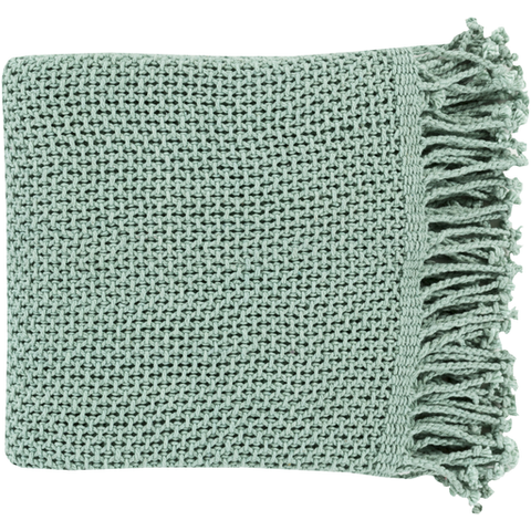 Eloise Woven Throw AQUA