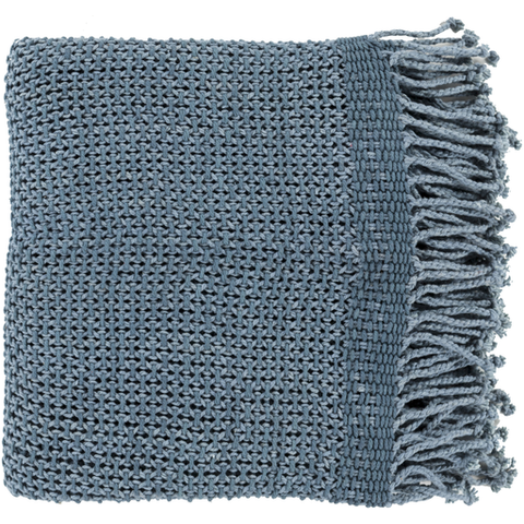 Eloise Woven Throw DENIM