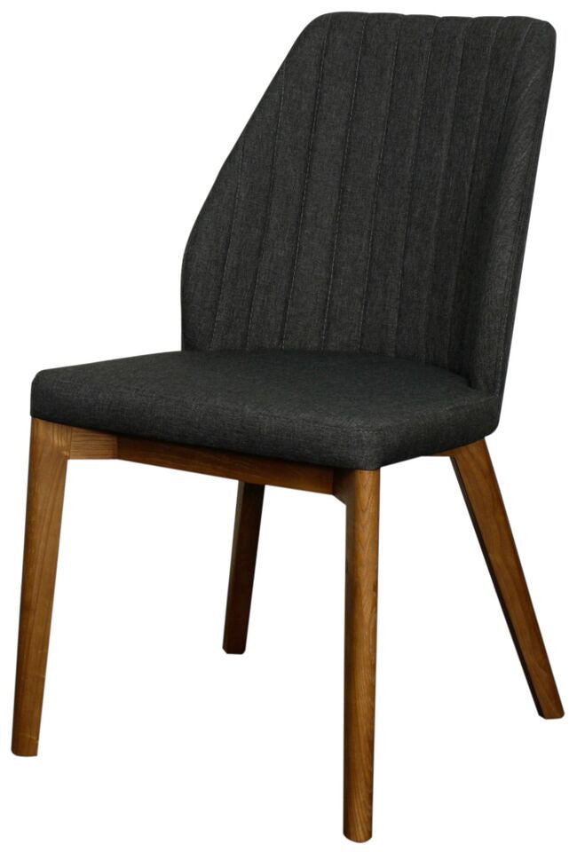 Florence Side Chair Set of 2 CHARCOAL